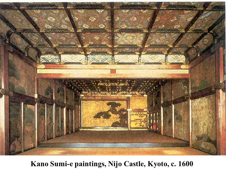 Kano Sumi-e paintings, Nijo Castle, Kyoto, c. 1600