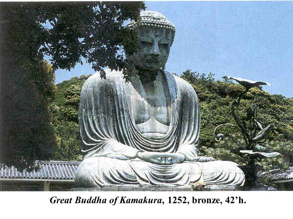 Great Buddha of Kamakura, 1252, bronze, 42'h.