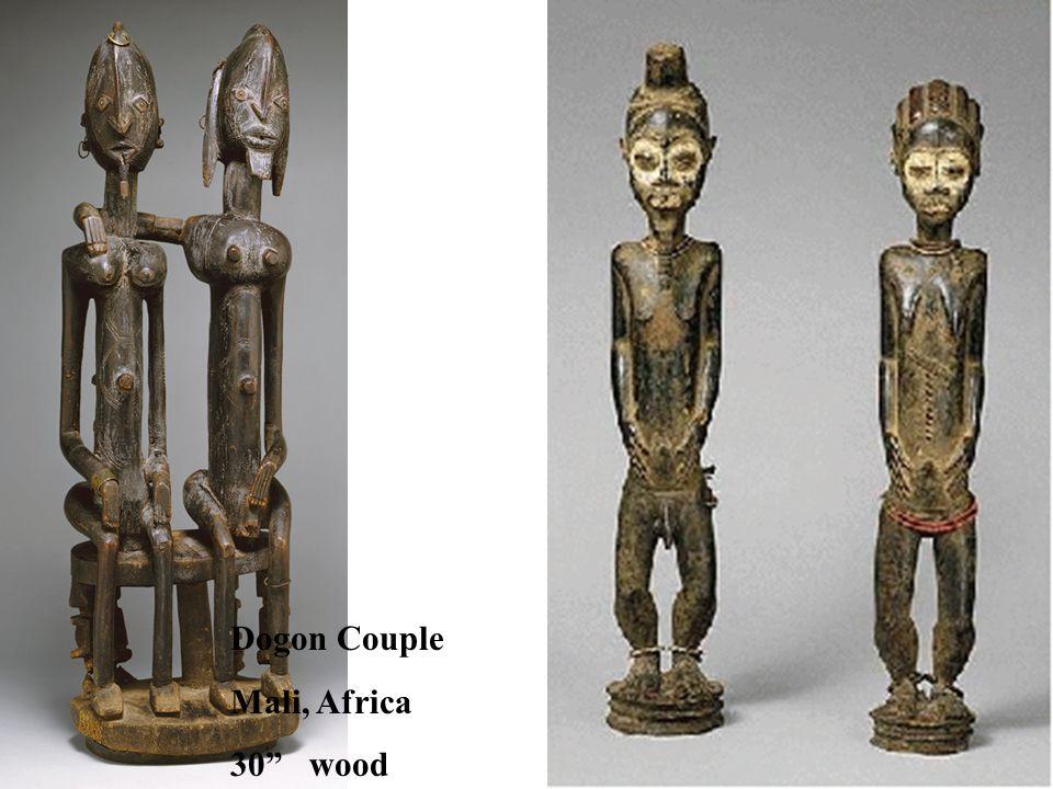 "Dogon Couple Mali, Africa 30"" wood"