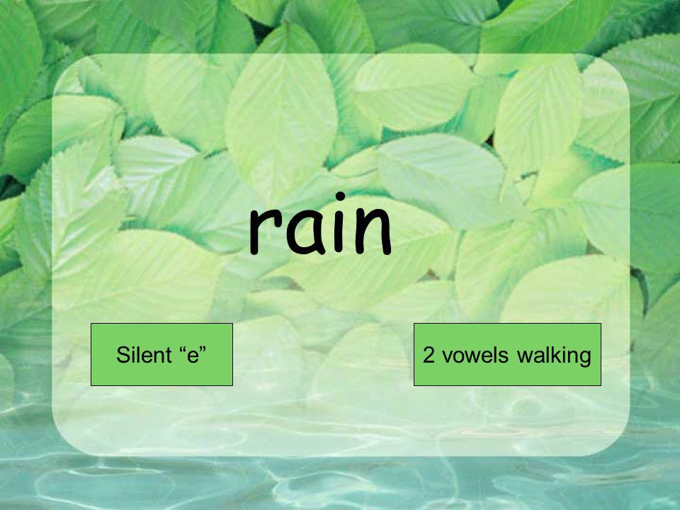 rain Short VowelLong Vowel