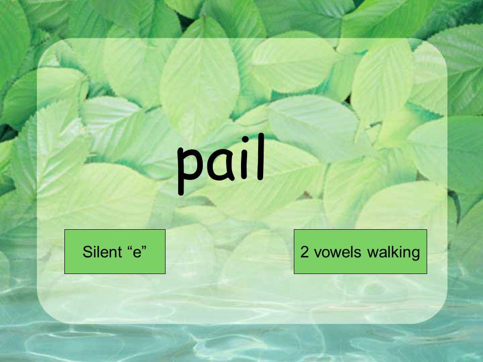 pail Short VowelLong Vowel
