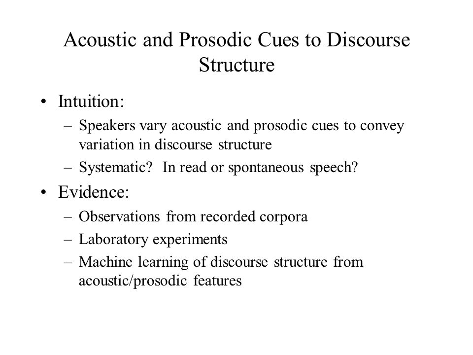 How are these structures recognized from a discourse.