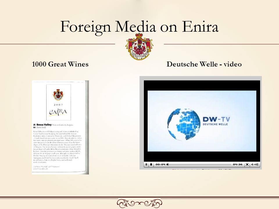 Foreign Media on Enira 1000 Great WinesDeutsche Welle - video