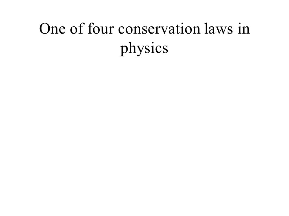 One of four conservation laws in physics
