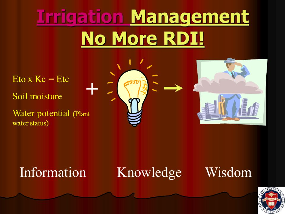 Irrigation Management No More RDI.