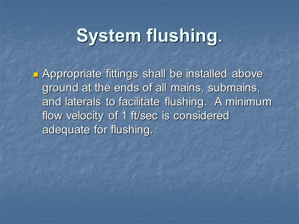System flushing.