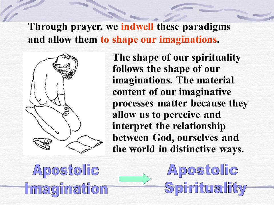 To speak of an apostolic imagination is to speak of a particular constellation of paradigms that disposes persons to attend to events in a way that hi