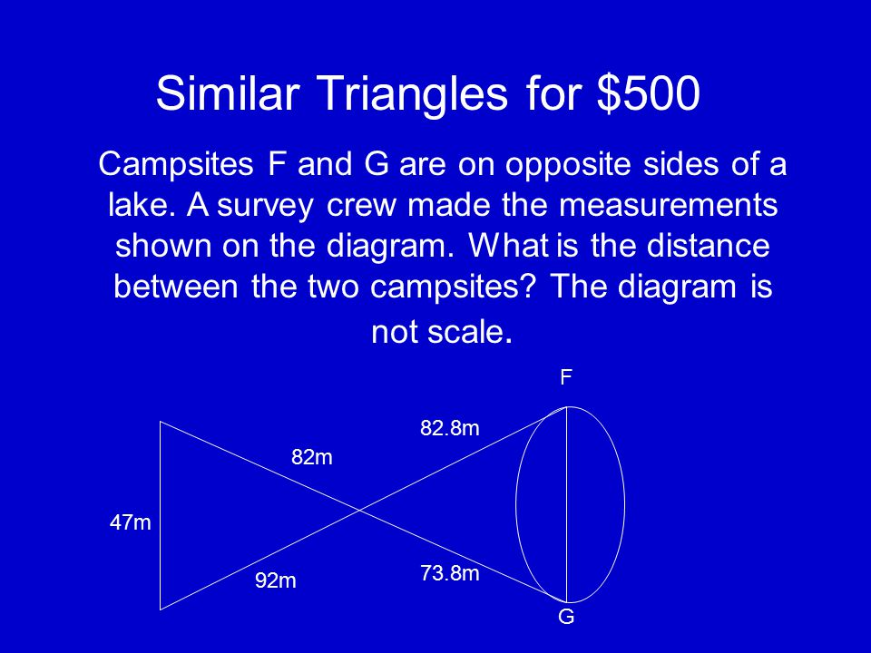 Similar Triangles for $400 Explain why the triangles are similar. Then find the value of x. 5 3 25º x 4.5 25º