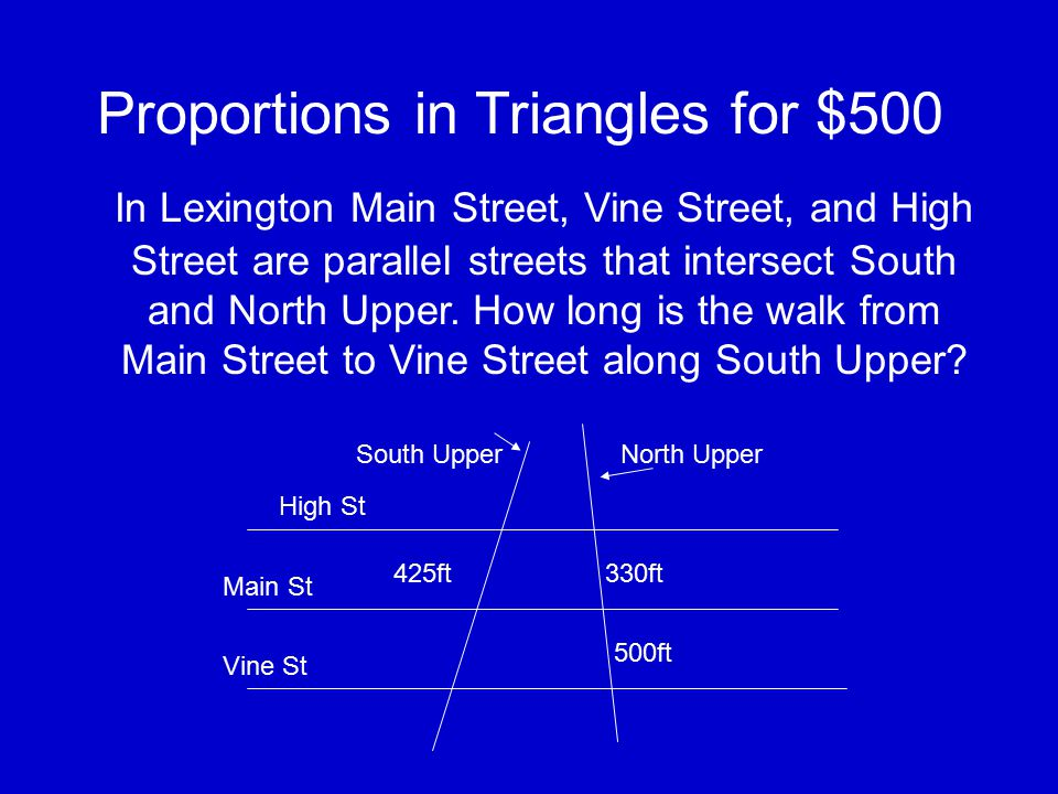 Proportions in Triangles for $400 Solve for x and y 16.5 y 15 26 x 30
