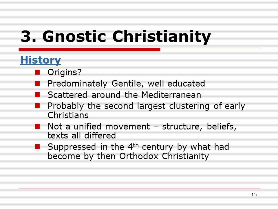 3. Gnostic Christianity History Origins.