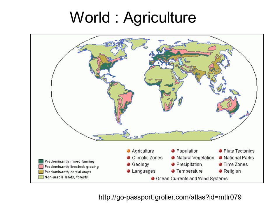 World : Agriculture http://go-passport.grolier.com/atlas?id=mtlr079