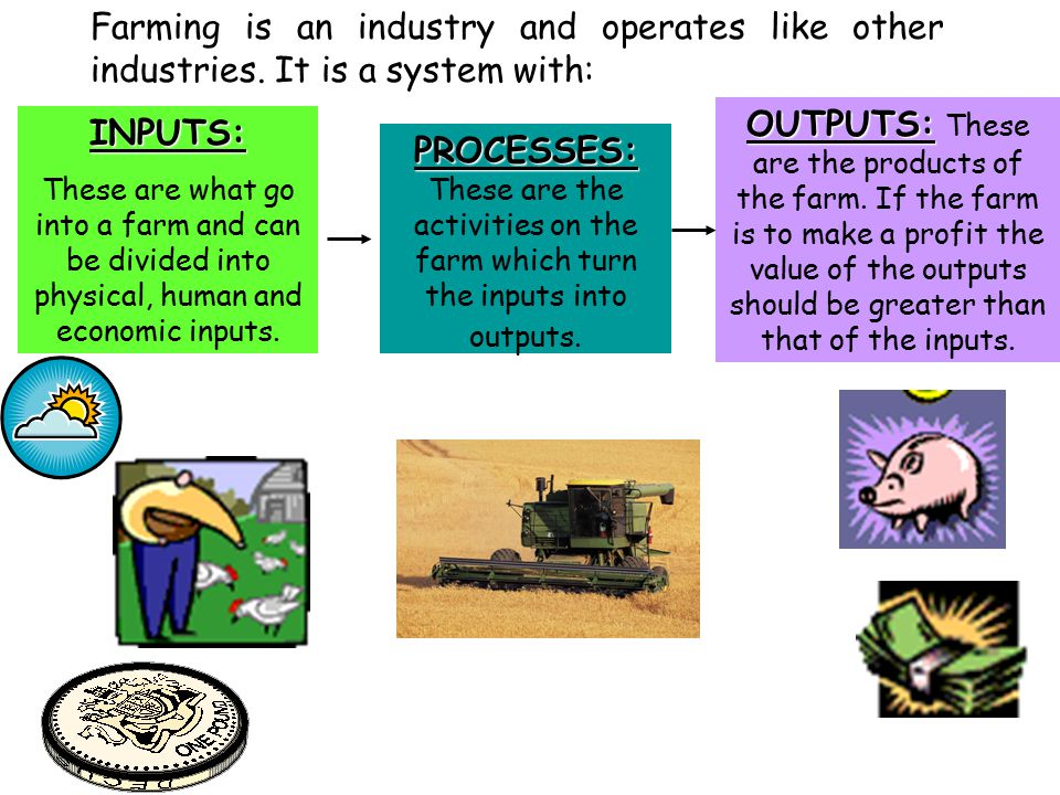 Farming is an industry and operates like other industries.