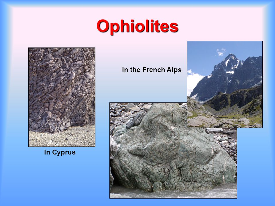 Ophiolites In Cyprus In the French Alps