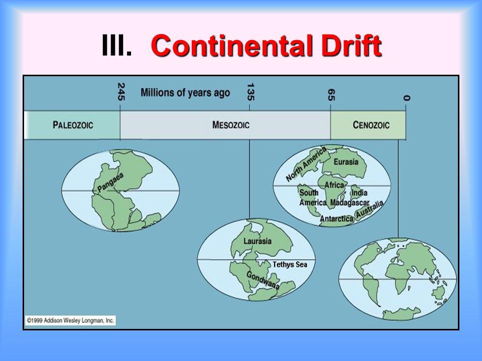 Continental Drift III. Continental Drift