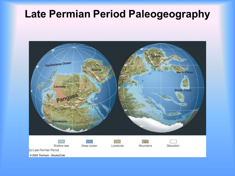 Late Permian Period Paleogeography