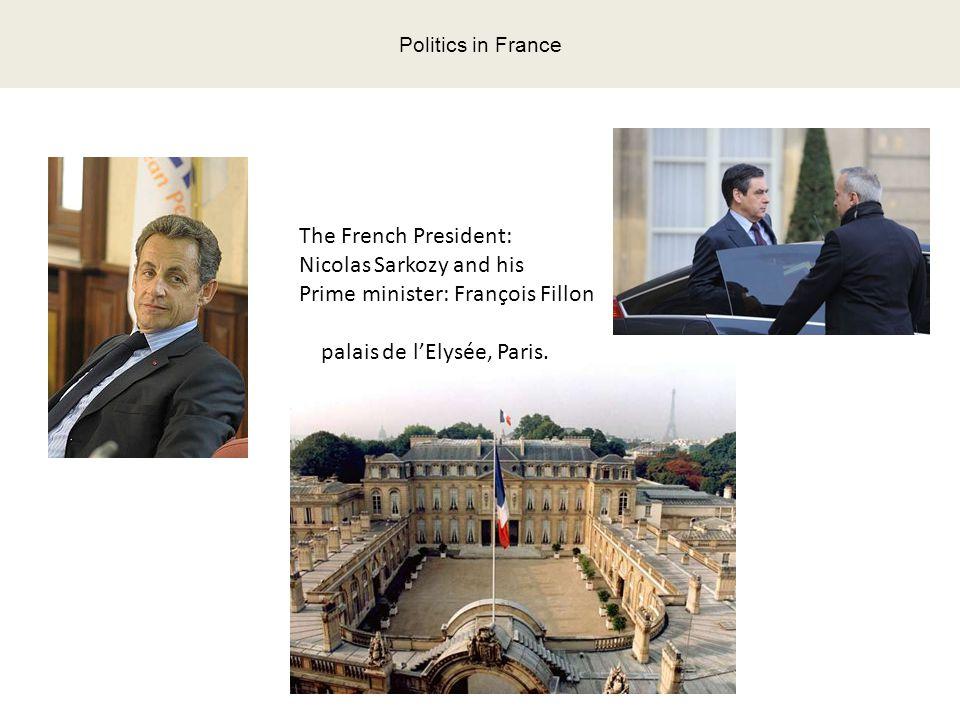 Politics in France The French President: Nicolas Sarkozy and his Prime minister: François Fillon palais de l'Elysée, Paris.