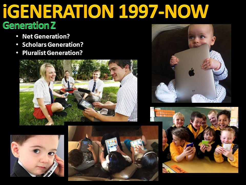 Net Generation. Net Generation. Scholars Generation.