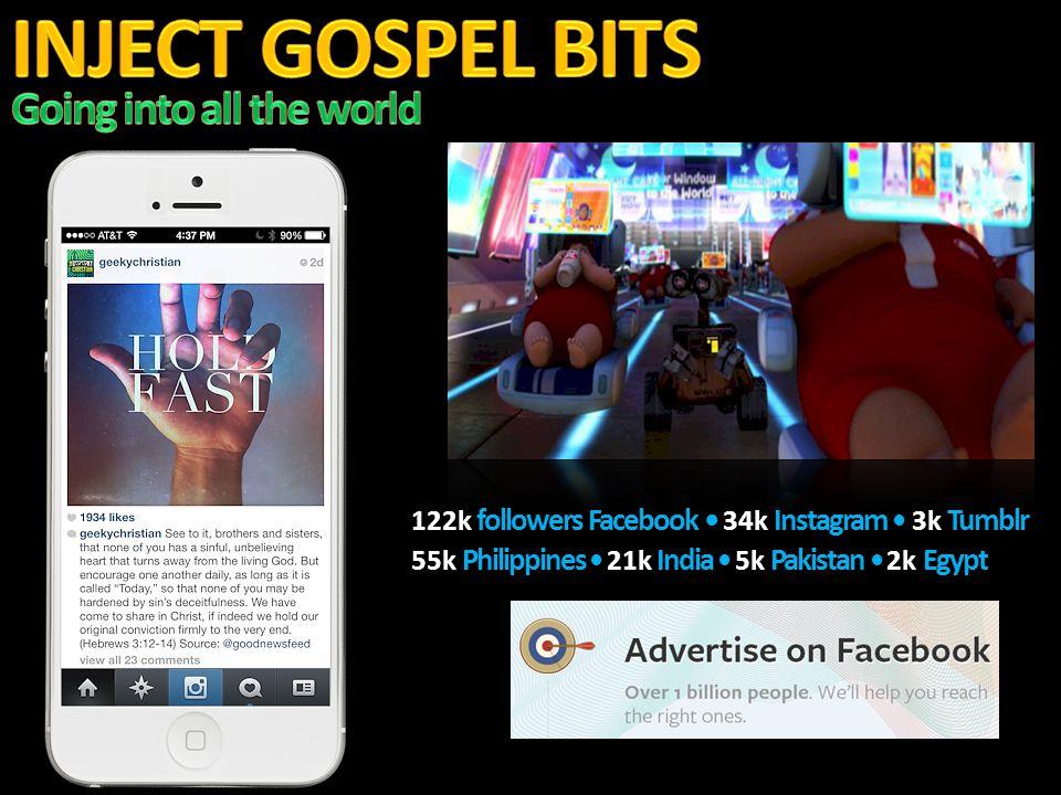 122k followers Facebook 34k Instagram 3k Tumblr 55k Philippines 21k India 5k Pakistan 2k Egypt