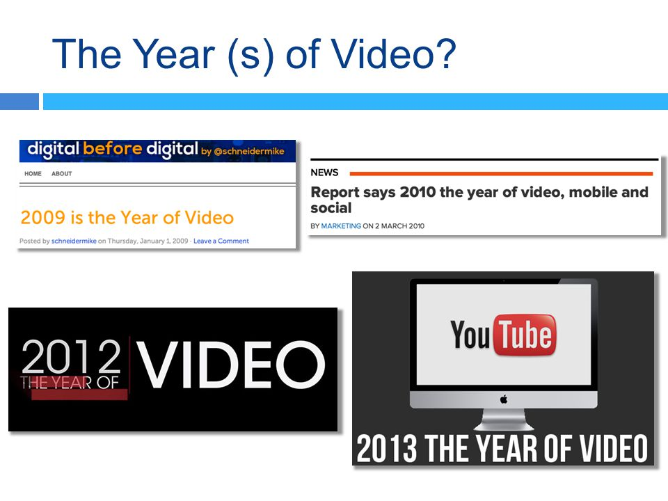 The Year (s) of Video