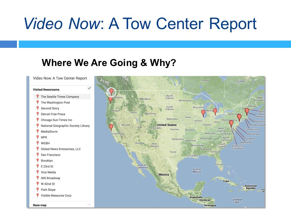 Video Now: A Tow Center Report Where We Are Going & Why