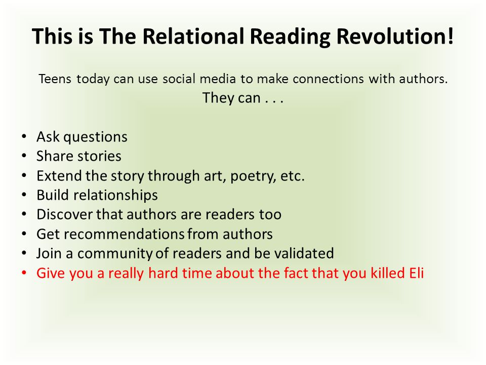 This is The Relational Reading Revolution.