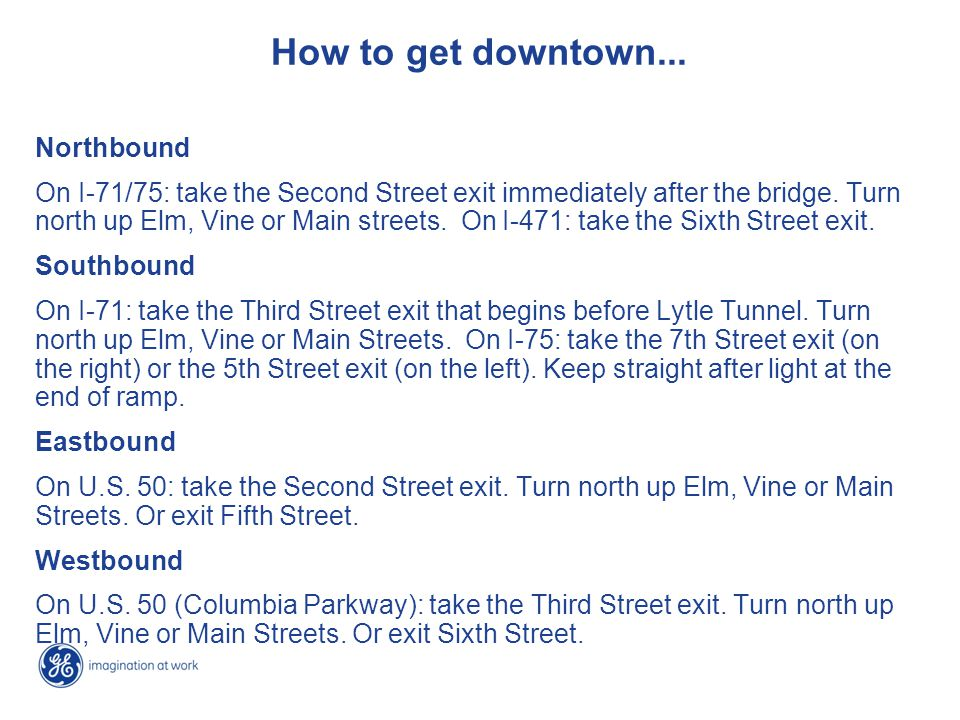 How to get downtown...