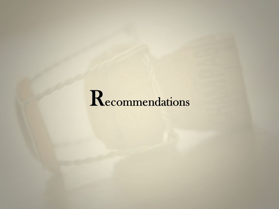 R ecommendations