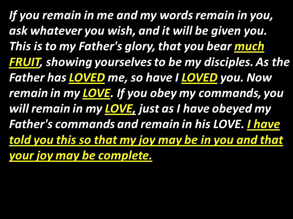 My command is this: LOVE each other as I have LOVED you.