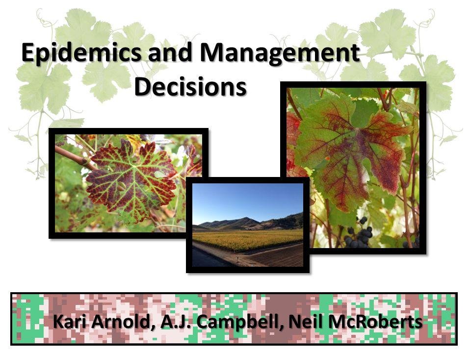 Epidemics and Management Decisions Kari Arnold, A.J. Campbell, Neil McRoberts