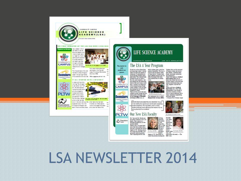 LSA NEWSLETTER 2014