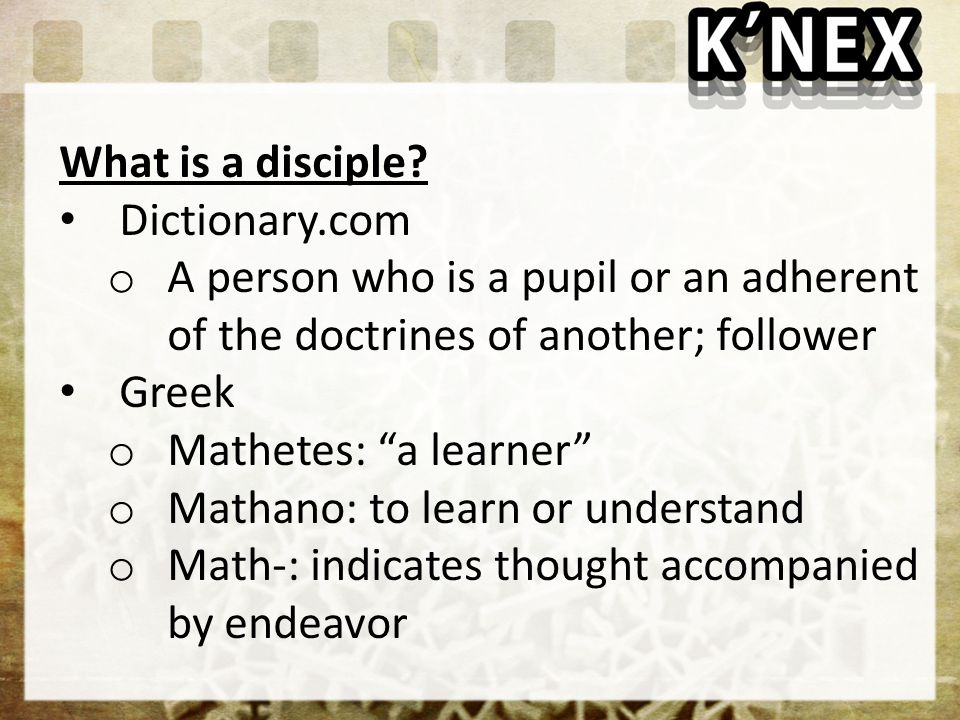What is a disciple.