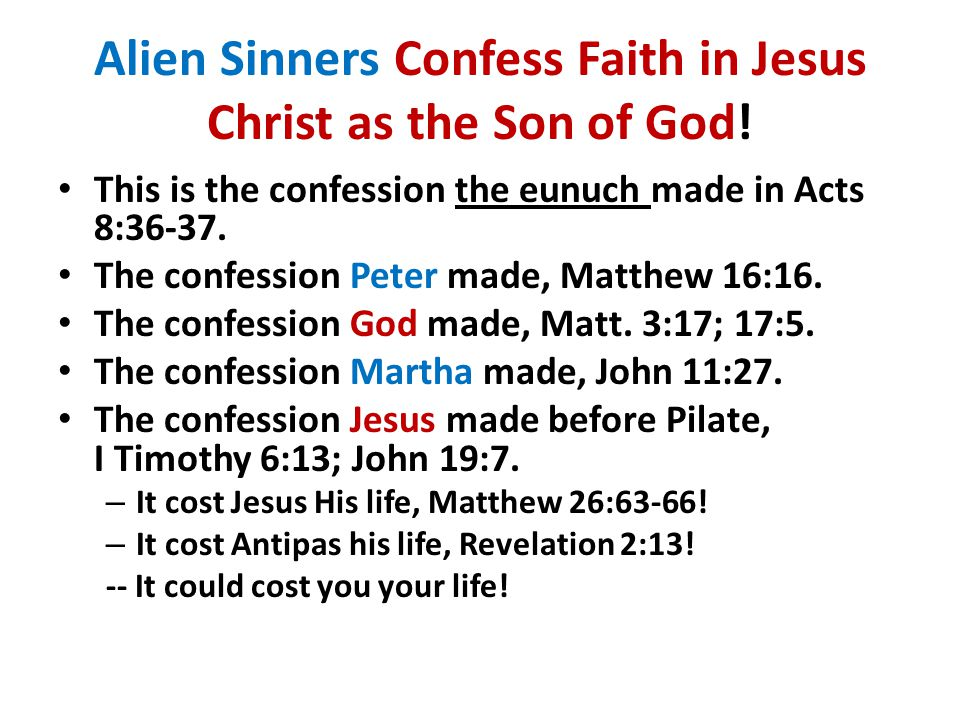 Erring Children of God Confess their Sins: Privately to God, if the sin is private, I John 1:9.