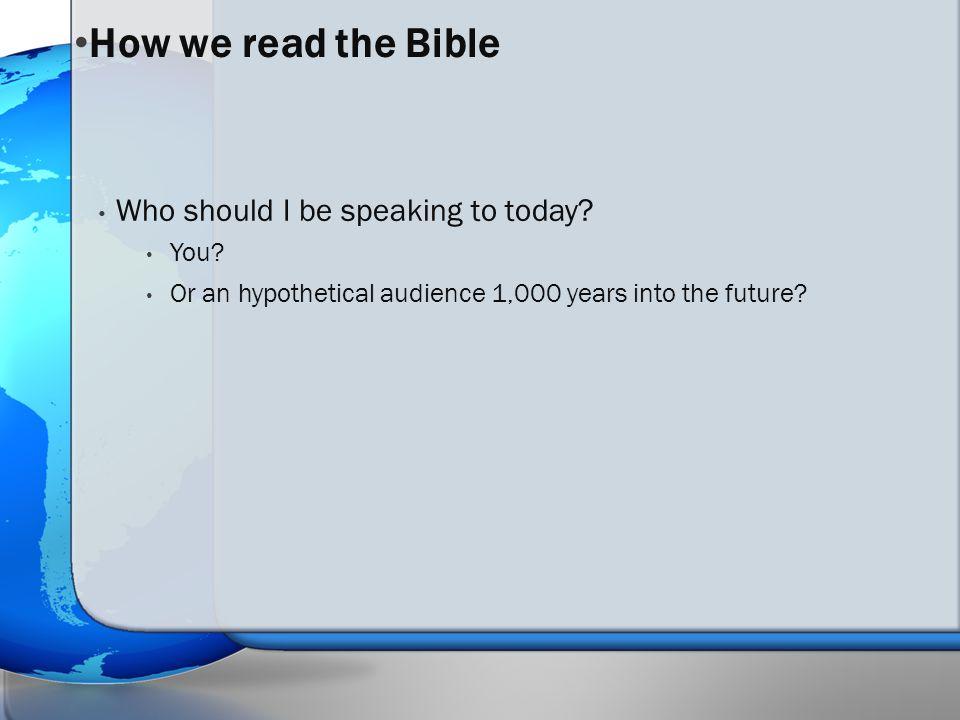 INTERPRETING A BIBLICAL TEXT