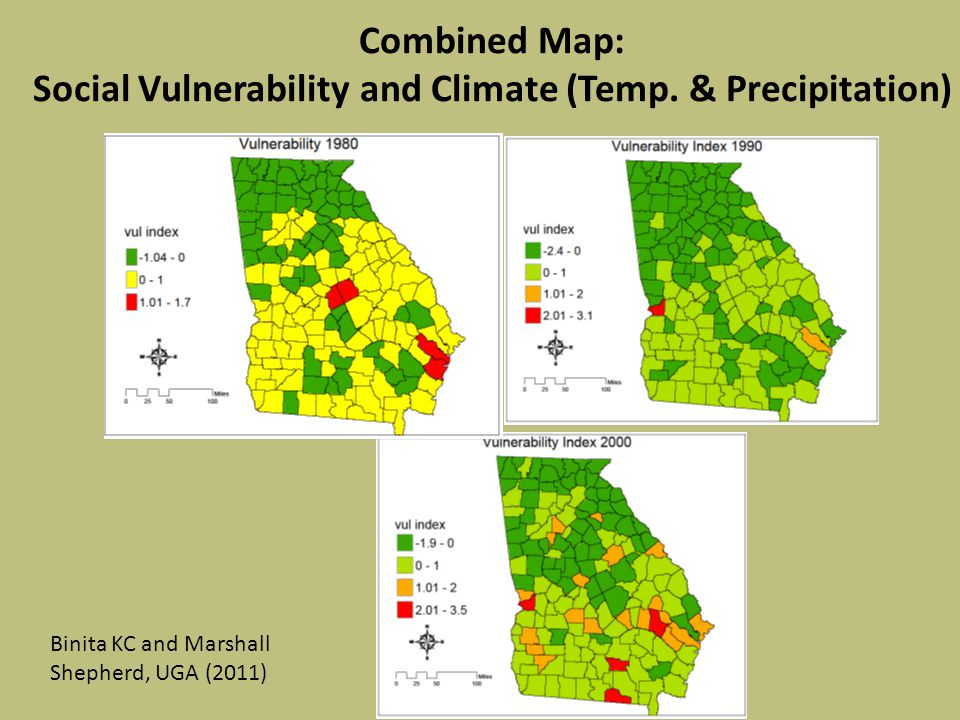 Combined Map: Social Vulnerability and Climate (Temp.