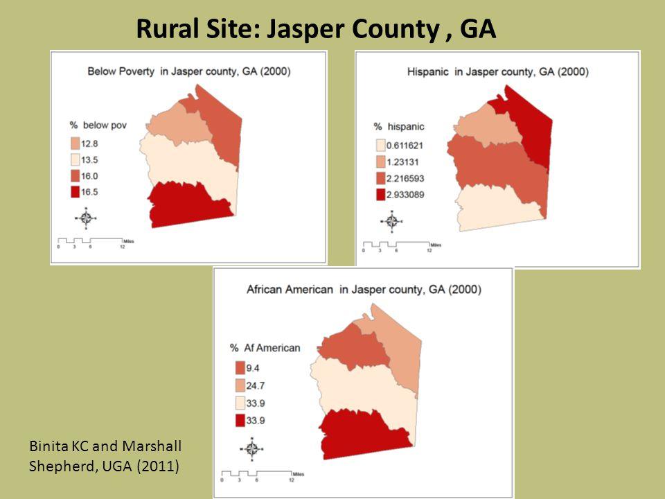 Rural Site: Jasper County, GA Binita KC and Marshall Shepherd, UGA (2011)