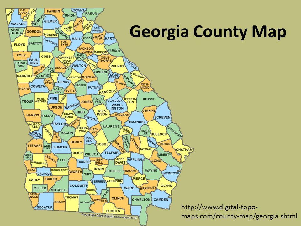 Georgia County Map http://www.digital-topo- maps.com/county-map/georgia.shtml
