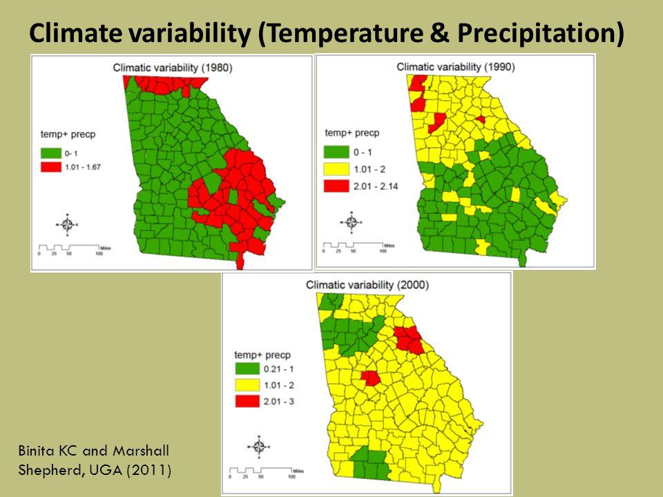 Climate variability (Temperature & Precipitation) Binita KC and Marshall Shepherd, UGA (2011)