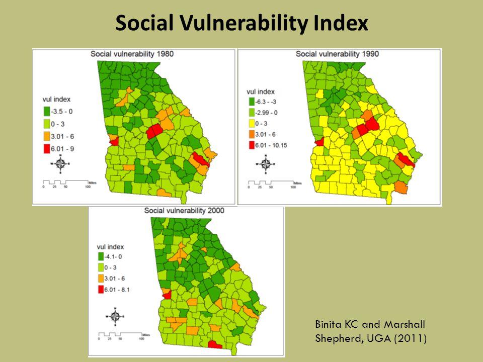 Social Vulnerability Index Binita KC and Marshall Shepherd, UGA (2011)