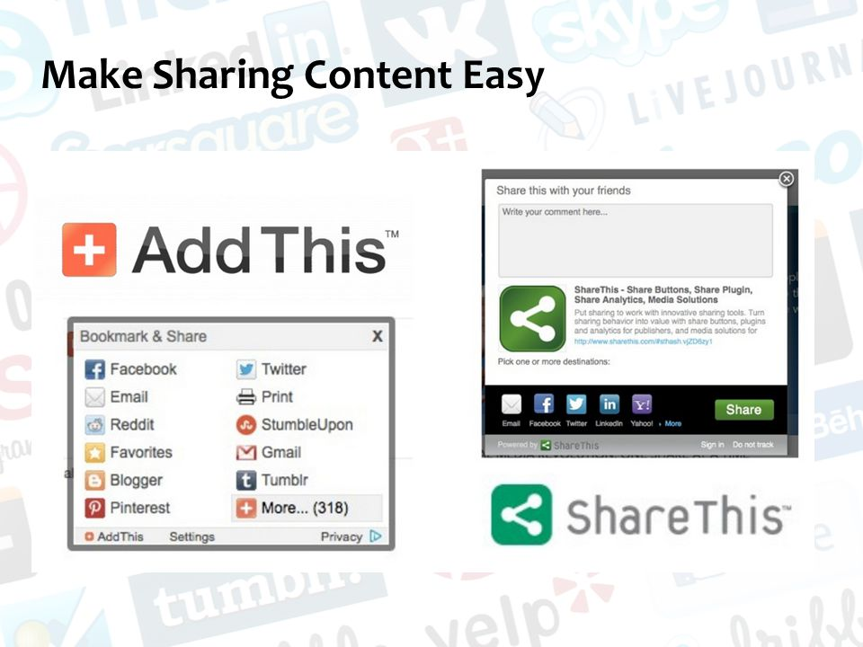 Make Sharing Content Easy