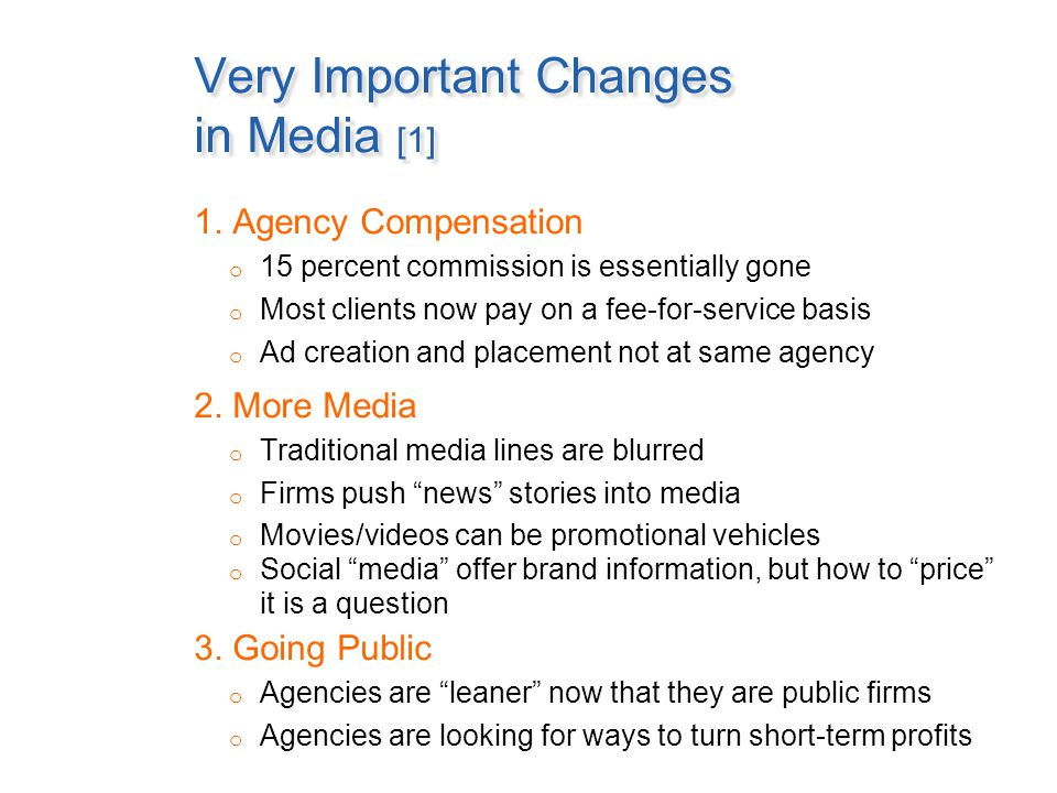 Very Important Changes in Media [2] 4.