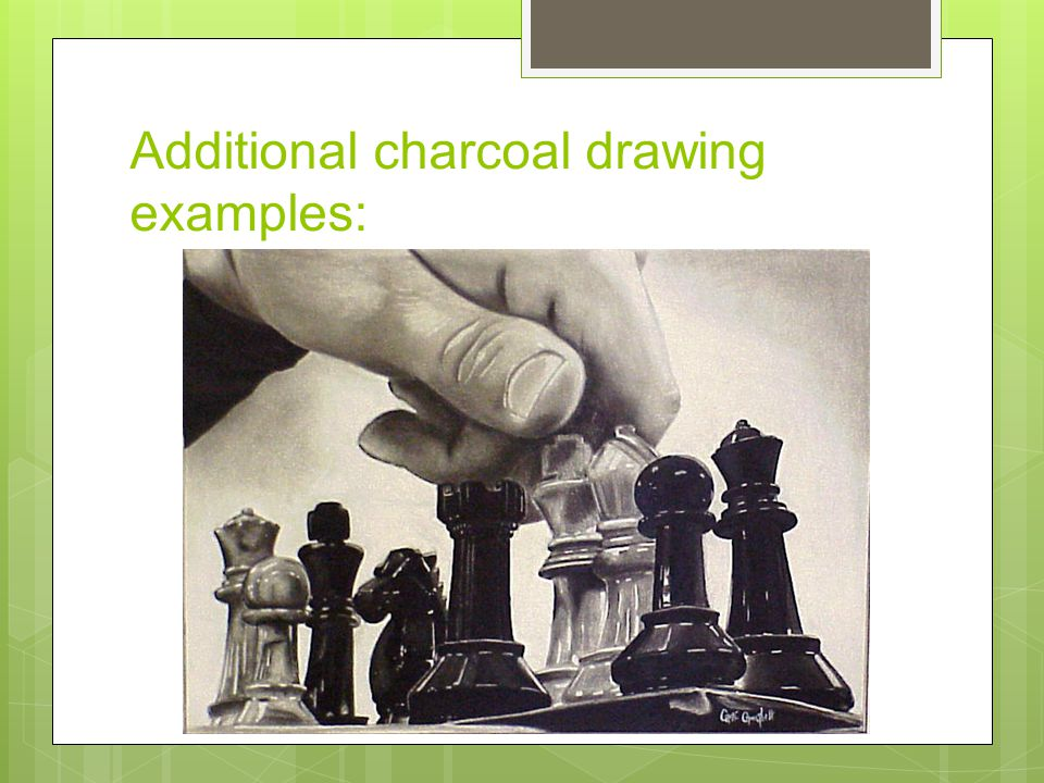 Additional charcoal drawing examples: