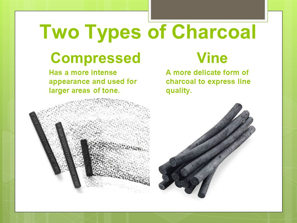 A rough tooth paper is better for charcoal because it can hold more of the material than a paper with less of a tooth.