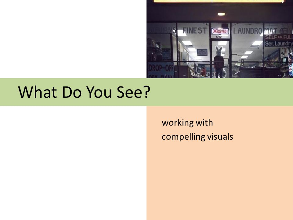 What Do You See working with compelling visuals