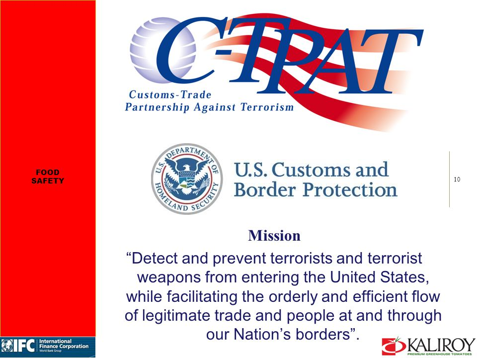 10 Mission Detect and prevent terrorists and terrorist weapons from entering the United States, while facilitating the orderly and efficient flow of legitimate trade and people at and through our Nation's borders .