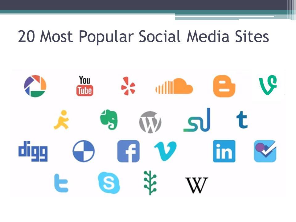 20 Most Popular Social Media Sites