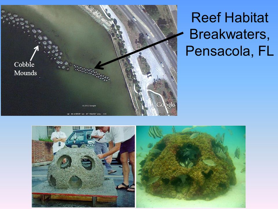 Reef Habitat Breakwaters, Pensacola, FL Cobble Mounds