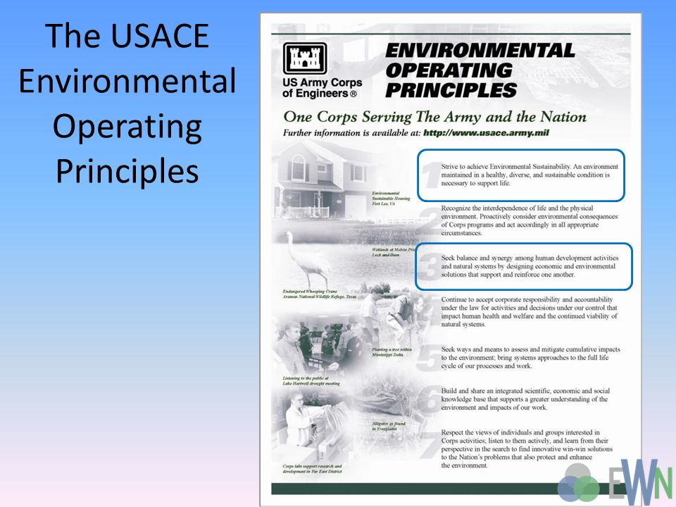 The USACE Environmental Operating Principles