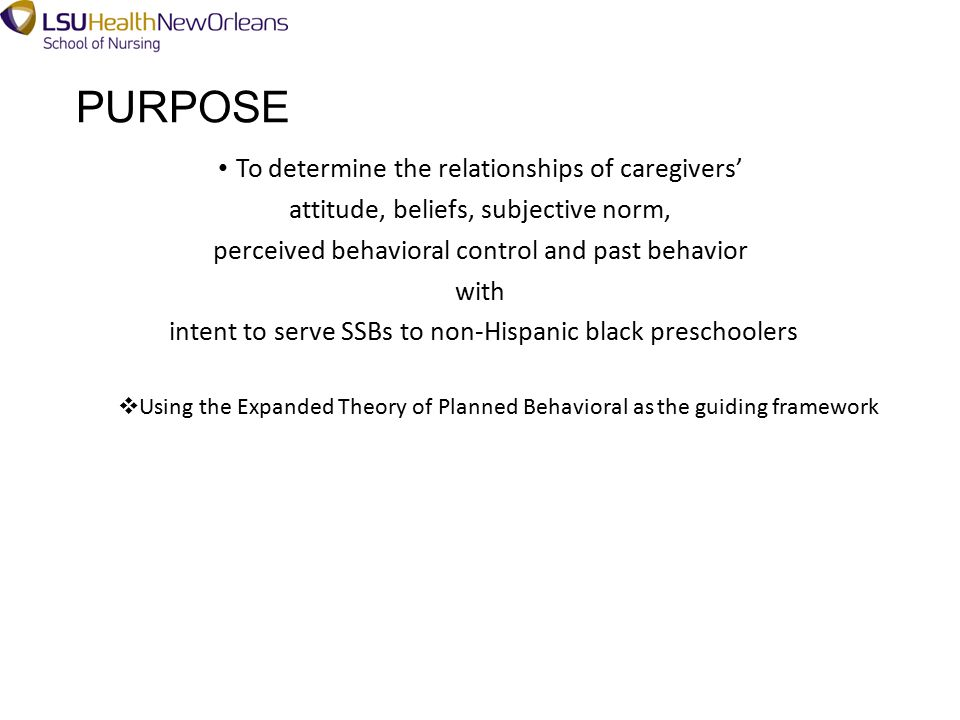 EXPANDED THEORY OF PLANNED BEHAVIOR Adapted from Ajzen, I. (2006)