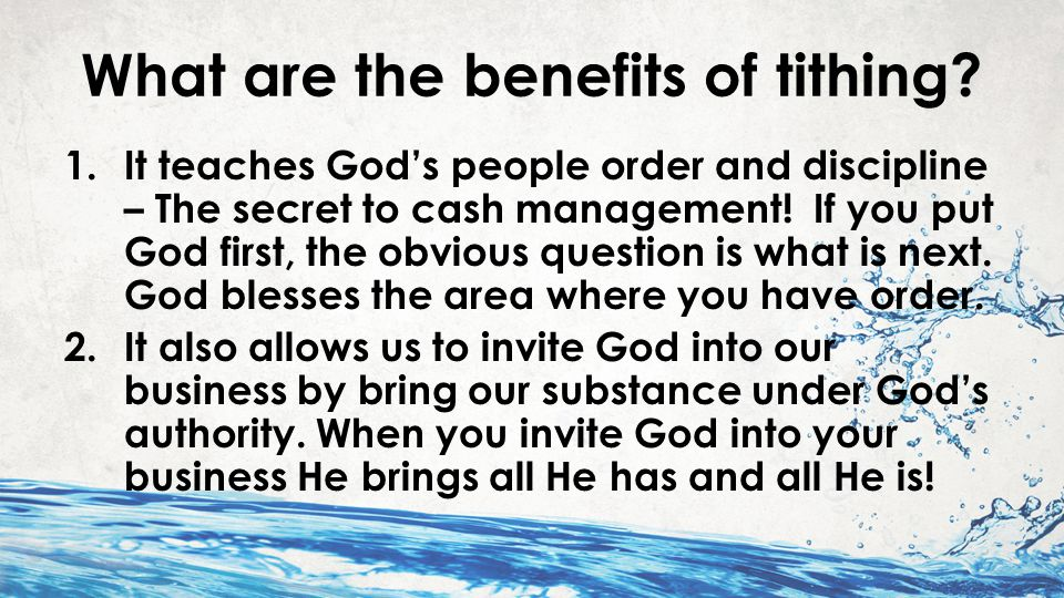 I Wills of God in Malachi 1.I will open the windows 2.I will pour you out a blessing 3.