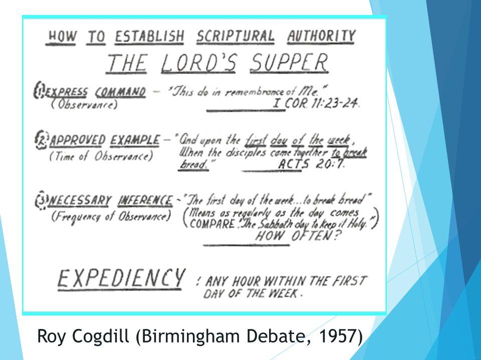Roy Cogdill (Birmingham Debate, 1957)
